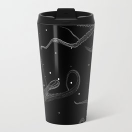 Octopus Black and White Travel Mug