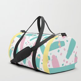 Pastel Skateboards Pattern Duffle Bag