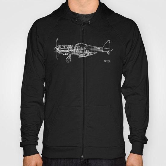 FW - 190 ( B & W) Hoody