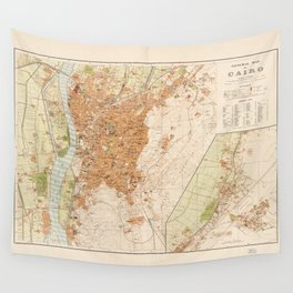 General Map of Cairo, Egypt (1920) Wall Tapestry