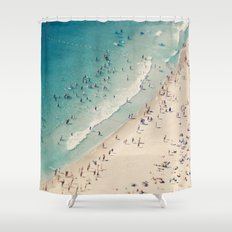 beach love V Shower Curtain