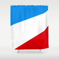 tour de france Shower Curtains featuring Tour de France by Anastase Kyriakos