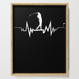 Golf Heartbeat design- Cool Gift For Golfer Serving Tray