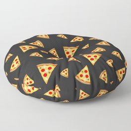 Cool and fun pizza slices pattern Floor Pillow