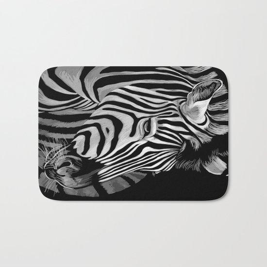 Zebra Painting Bath Mat