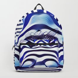 9665s-KMA_5201 Powerful Blue Woman Open Free Striped Sensual Sexy Abstract Nude Backpack