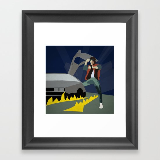 Back To The Future 1985 Framed Art Print
