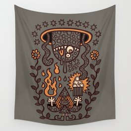 Grand Magus Summons Entity With Dark Popcorn Power Wall Tapestry