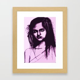 Sullen Girl Framed Art Print