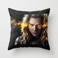 bad wolf Throw Pillows featuring Bad Wolf by Westling