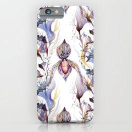 Paphiopedilum, Slipper Orchid Art, Venus Lady Slipper, Exotic Tropical Orchid iPhone Case