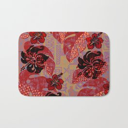On Fire Kona Tropical Floral Bath Mat