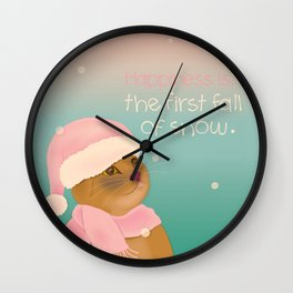 Dressing up for the snow Wall Clock