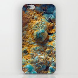 Bubbly Turquoise with Rusty Dust iPhone Skin