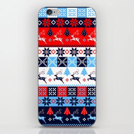 Scandinavian holidays pattern design iPhone Skin