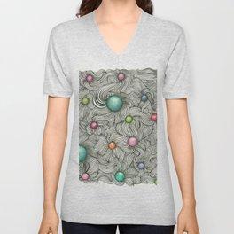 Embedded Color Spheres Unisex V-Neck