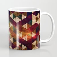 polygon Mugs featuring Polygon by Tony Vazquez