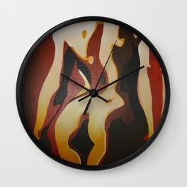 Back View Of A Nude Woman Wall Clock