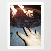 hand over fire Art Print