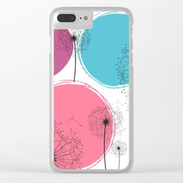 Dandelions & Summer Circles Clear iPhone Case