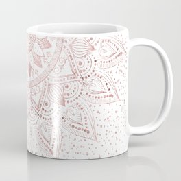 Elegant rose gold mandala confetti design Coffee Mug