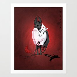 Bats in Love Art Print