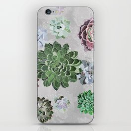 Simple succulents iPhone Skin
