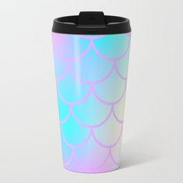Turquoise Purple Mermaid Travel Mug