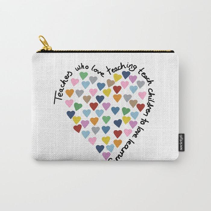 Hearts Heart Teacher Carry-All Pouch