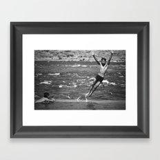 Hare Om Framed Art Print