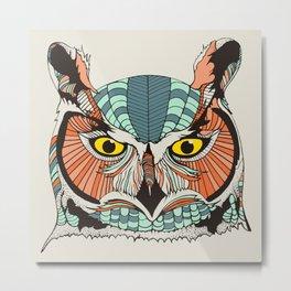 OWLBERT Metal Print