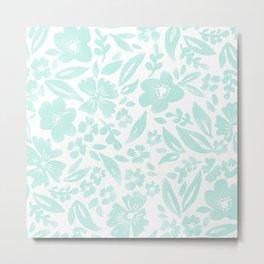 Stamp Floral Pattern Metal Print