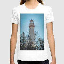 Gross Point Lighthouse Evanston Illinois Closeup Lake Michigan T-shirt