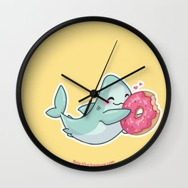 Byte LOVES Donuts Wall Clock