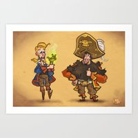 monkey island Art Prints featuring #85 - Tales of Monkey Island by Jón Kristján Kristinsson