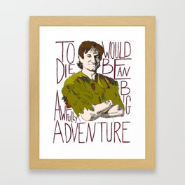 Robin Williams Hook Peter Pan Quote Framed Art Print