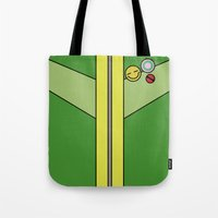 persona 4 Tote Bags featuring Persona 4 Chie Satonaka Jacket by Bunny Frost