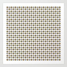Bitcoin and Litecoin crypto logos Art Print