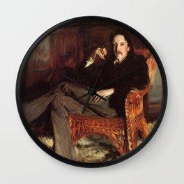 Vintage Painting of Robert Louis Stevenson (1887) Wall Clock
