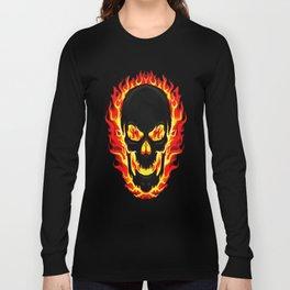 Flame Skull Long Sleeve T-shirt