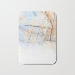 Cotton Latte Marble - Ombre blue and ivory Bath Mat