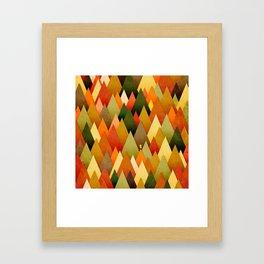 071 – deep into the autumn forest texture II Framed Art Print