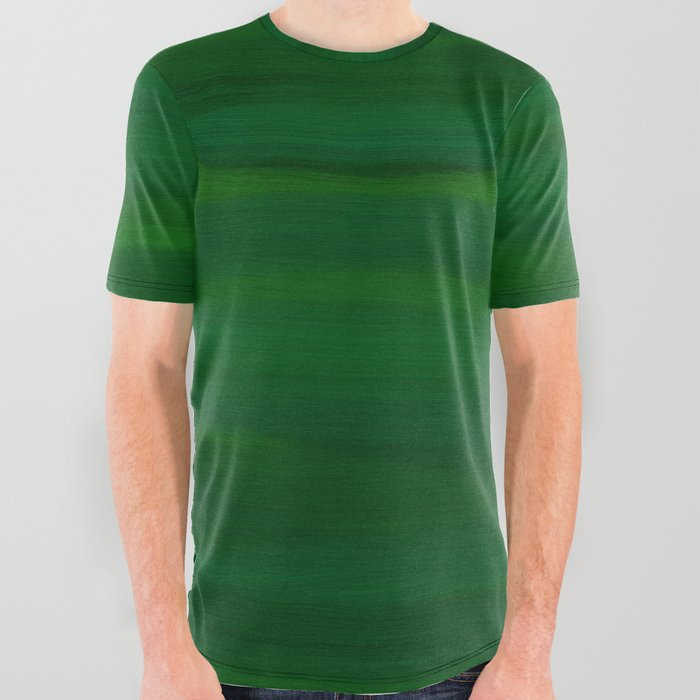 Emerald_Green_Stripes_Abstract_All_Over_Graphic_Tee_by_Abstract_Color__Small