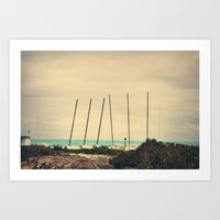 boats Art Prints featuring Boats by Kiera Wilson