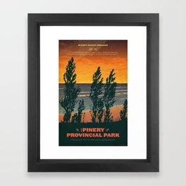 Pinery Provincial Park Poster Framed Art Print