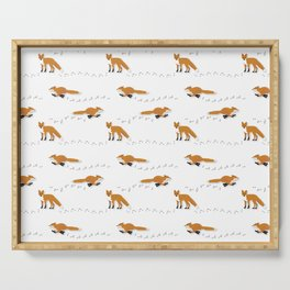Fox Tracks Serving Tray
