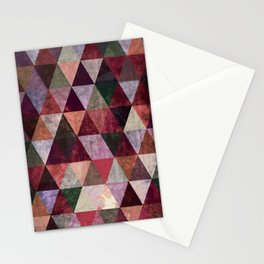 Grunge Triangles #2 Stationery Cards