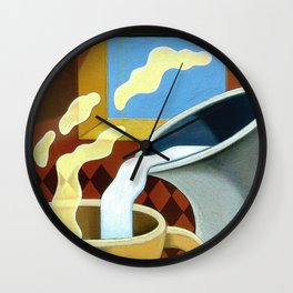 White coffee Wall Clock