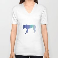 northern lights V-neck T-shirts featuring northern lights are bright by hoodlumfiend