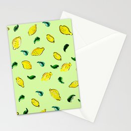 Watercolor Lemons Green #homedecor #spring #watercolor Stationery Cards